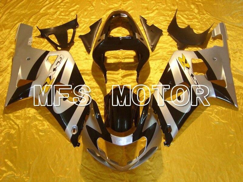 Пресс-формы для Suzuki GSXR600/750 K1 и K2 2001 2002 2003 01 02 03 впрыска ABS обтекатель комплекты - другие - черный/серебристый