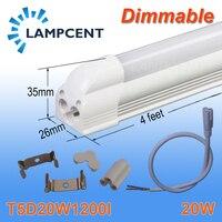 4/Pack Pode Ser Escurecido LED Integrado T5 4FT 20 W Linear Light Bulb Lamp Com Acessório