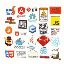 28st Pvc Vattentät Internet-tema klistermärke för Geek-programvara molndata Representera dig java C ++ phpStickers
