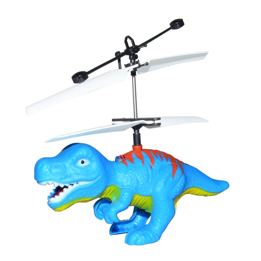 Electric RC Flying Infrared Sensor Dinosaur Model Toy Mini RC Helicopter LED Flash Lighting USB Charging Toy for Kids Funny Gift