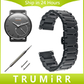 18mm pulseira de liberação rápida para o withings activite/aço/pop smart watch band strap borboleta fecho pulseira de aço inoxidável