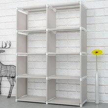 Креативная Современная Нетканая простая книжная полка для пола, легко перемещающаяся, сделай сам, украшение для дома, полка для общежития, книжный шкаф, органайзер для хранения книг