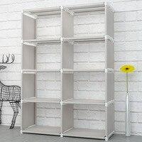 Creative Modern Nonwoven Simple Bookshelf Floor Easy Moving DIY Home Decoration Dorm Shelf Bookcase Kids Book Storage Organizer