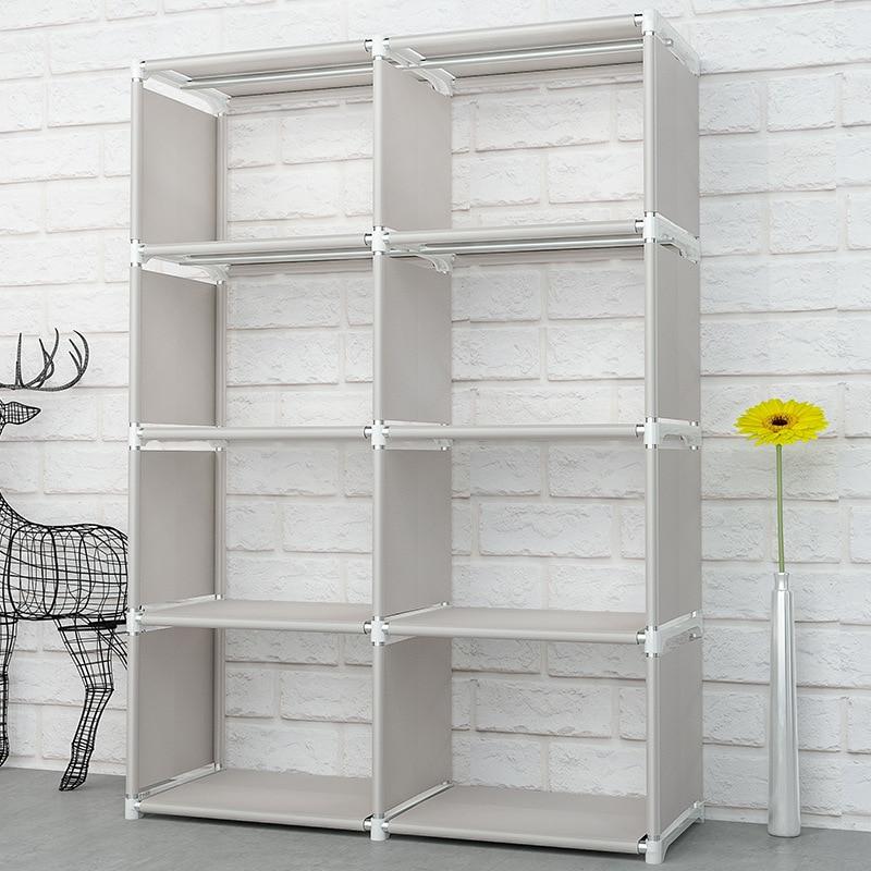 Bookcase:  Creative Modern Nonwoven Simple Bookshelf Floor Easy Moving DIY Home Decoration Dorm Shelf Bookcase Kids Book Storage Organizer - Martin's & Co