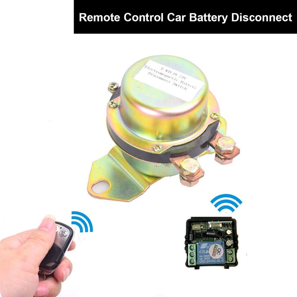Dc 12v Automobile Car Battery Switch Disconnect Remote Kit Terminal Low Voltage Mains Control Electromagnetic Disconnector 24v Power Master