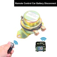 Car Remote Control Battery Switch Electromagnetic Disconnector DC 24V Power Switch + Remote Control Terminal Master Kill System