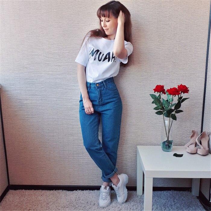 Dunayskiy Autumn jeans women Fashionable Blue High Waist Loose Denim Jeans Female Harem Pants Trousers boyfriend jeans for women 3