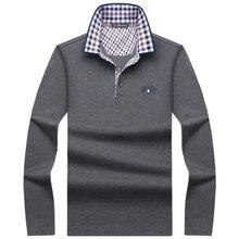 2017 Spring Autumn New Arrival Fashion Brand Polo Shirts Long Sleeve Men's Slim Shirt Cotton Casual Tee Shirts Men S-10XL