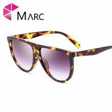 MARC UV400 WOMEN MEN sunglasse Plastic Oversize Brand designer Gradient Oculos eyewear Gafas Sol Transparent Oval Leopard Clear
