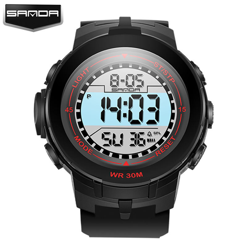 SANDA LED Digital Watches Women Fashion Watch 2017 Sport Wrist Watches Ladies Famous Brand Clock Relogio Feminino Reloj Mujer criancas relogio 2017 colorful boys girls students digital lcd wrist watch boys girls electronic digital wrist sport watch 2 2