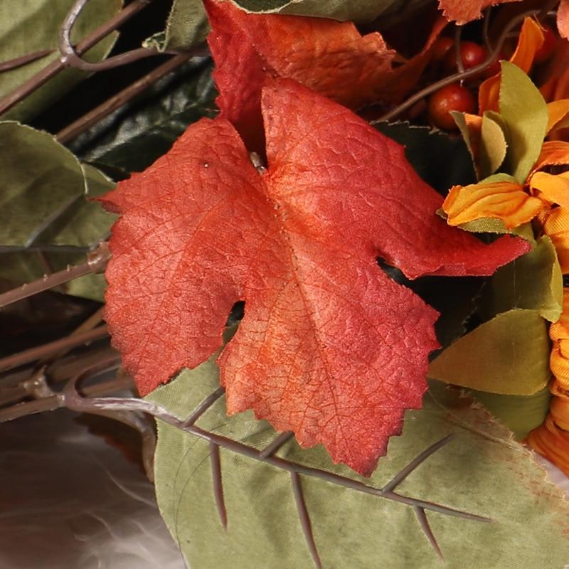 HOYVJOY Artificial Flowers Home Decoration Fake Maple Leaves Pumpkin Decor Dired Plants Fake Flower in Artificial Dried Flowers from Home Garden