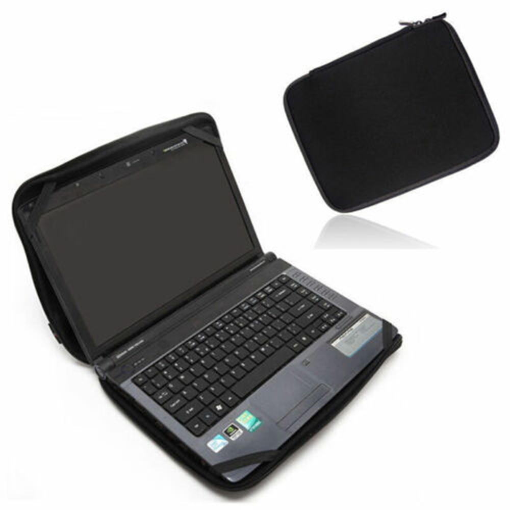 "New Black 10""-17"" Laptop Notebook Sleeve Bag Case Cover W/4 Straps For HP Dell Lenovo Acer Bag"
