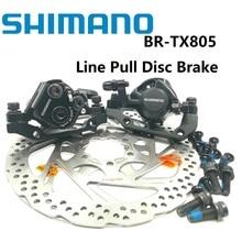 Горных велосипедов SHIMANO турнир BR TX805 M375 линия потянув дисковый тормоз 160 мм 180 мм диск Тормозной суппорт ротора RT56 HS1 G3 горный велосипед механический тормоз