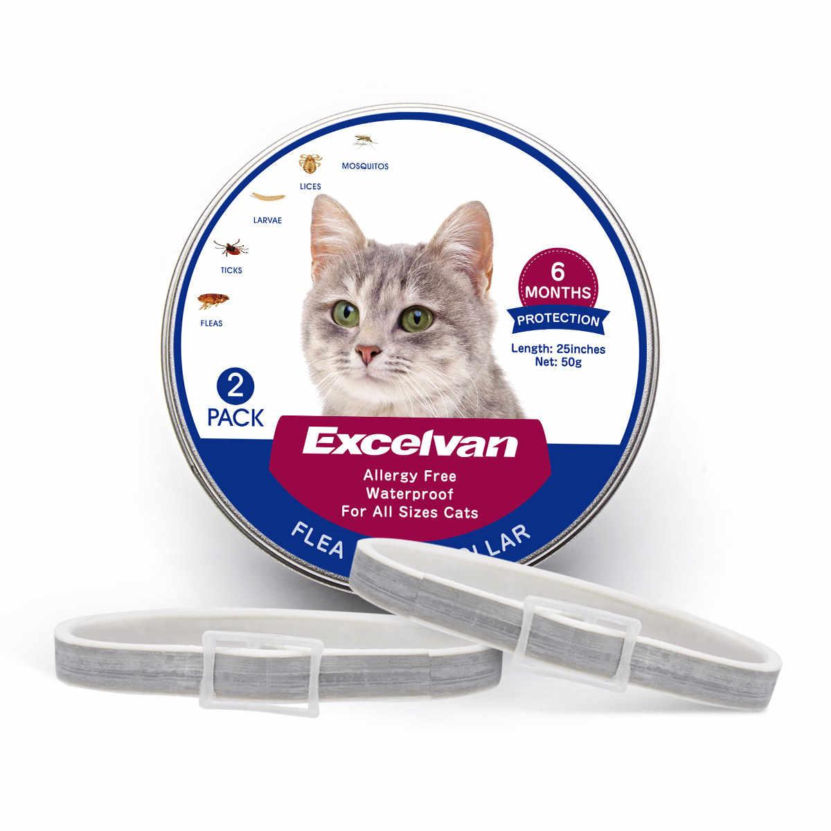 2 แพ็คเห็บหมัดสำหรับแมวสัตว์เลี้ยง Anti - แมลงยุงปรับกลางแจ้งกันน้ำสุนัข 6 เดือนระยะยาวปกป้อง