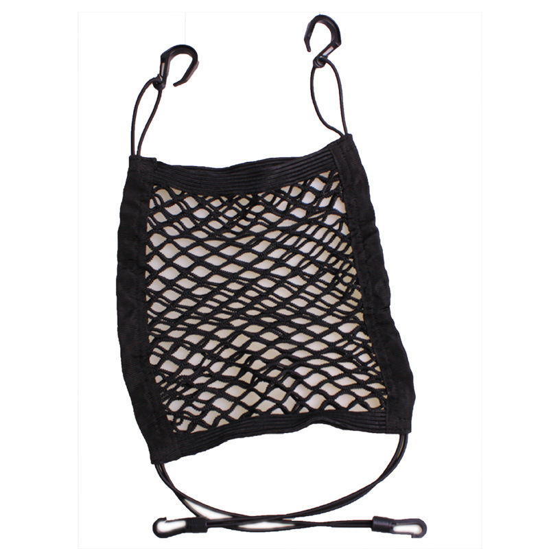 Wholesale Car trunk net bag general trunk storage net bag double layer trunk storage bags Fire extinguisher net Sundries bag