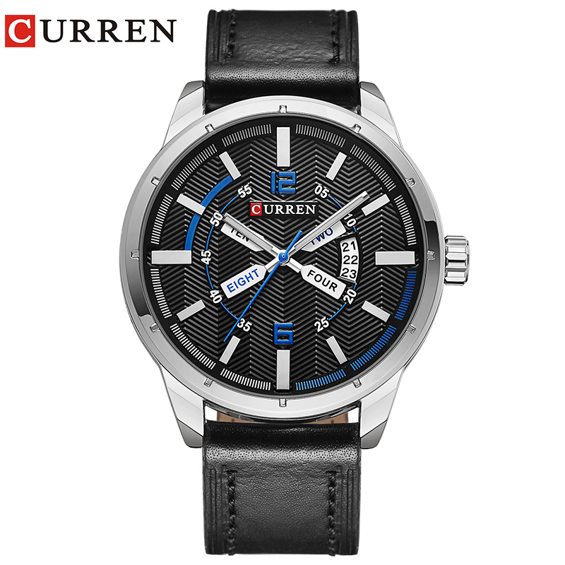 Curren luxury brand quartz watch Casual Fashion Leather watches reloj masculino men watch free shipping Sports Watches 8211 gatsby pубашка