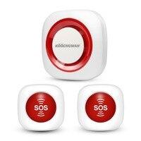KOOCHUWAH GSM сигнализация SOS Аварийная сигнализация Беспроводная тревожная кнопка SMS пожилая сигнализация Безопасность для беременных/пациента...