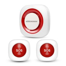 KOOCHUWAH GSM Alarm System SOS Emergency Alarm Wireless Panic Button SMS Elderly Alarm Security for Pregnant/Patient/Disabled(China)