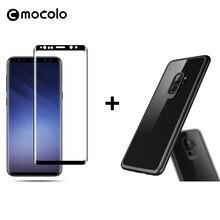 Mocolo 3D Стекло для samsung Примечание 8 Стекло фильм Экран протектор для Galaxy S8 S9 плюс Бесплатная Роскошные мягкие силиконовые жесткий прозрачный чехол
