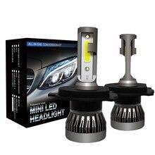 Лампы фар автомобиля H4 светодиодная мини-лампа Hi Lo луч безвентиляторный дизайн 36 W авто автомобиль свет лампы 8000lm 6000 k лампа IP68 водонепроницаемый