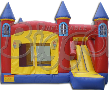 FREE SHIPPING BY SEA Inflatable Bounce House Popular Bouncy Castle With Inflatable Slide  free sea shipping giant durable kids hinchables inflatable bounce house water slide
