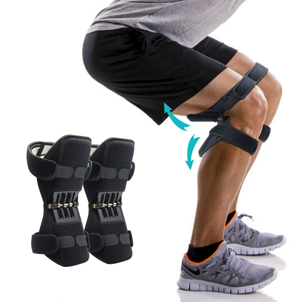 Aptoco Breathable Non-slip Joint Support Knee Pads Lift Knee Pads Care Powerful Rebound Spring Force Knee Booster Dropshipping