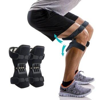 Oddychające antypoślizgowe wspólne wsparcie ochraniacze na kolana podnoszenie ochraniacze na kolana pielęgnacja potężne odbicie sprężyny siła kolana Booster Dropshipping