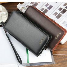 Business casual phone double Large Capacity embossed men long wallet zipper coin PU leather purse high quality clutch money clip