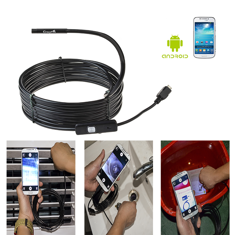 IP67 Waterpoof  5.5mm Diameter Endoscope Inspection Camera 3.5 Meters Cable For Windows 7 Android System Mobile Phone смартфон с windows phone 7