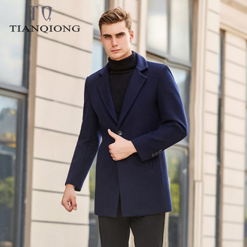 Men Clothes 2019 New Arrival Winter High Quality Wool Thicked Trench Coat Men,Men's Navy Wool Jackets ,plus-size M-3XL,