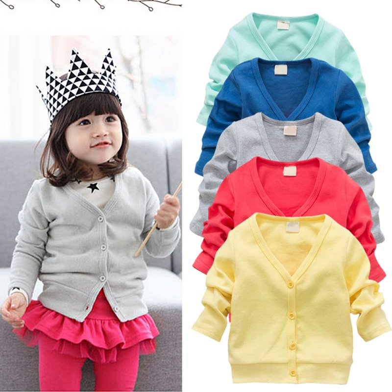 e2535c119 0-3Y Baby Kid V-neck Clothing Cotton Cardigan Thick Jacket Coats ...
