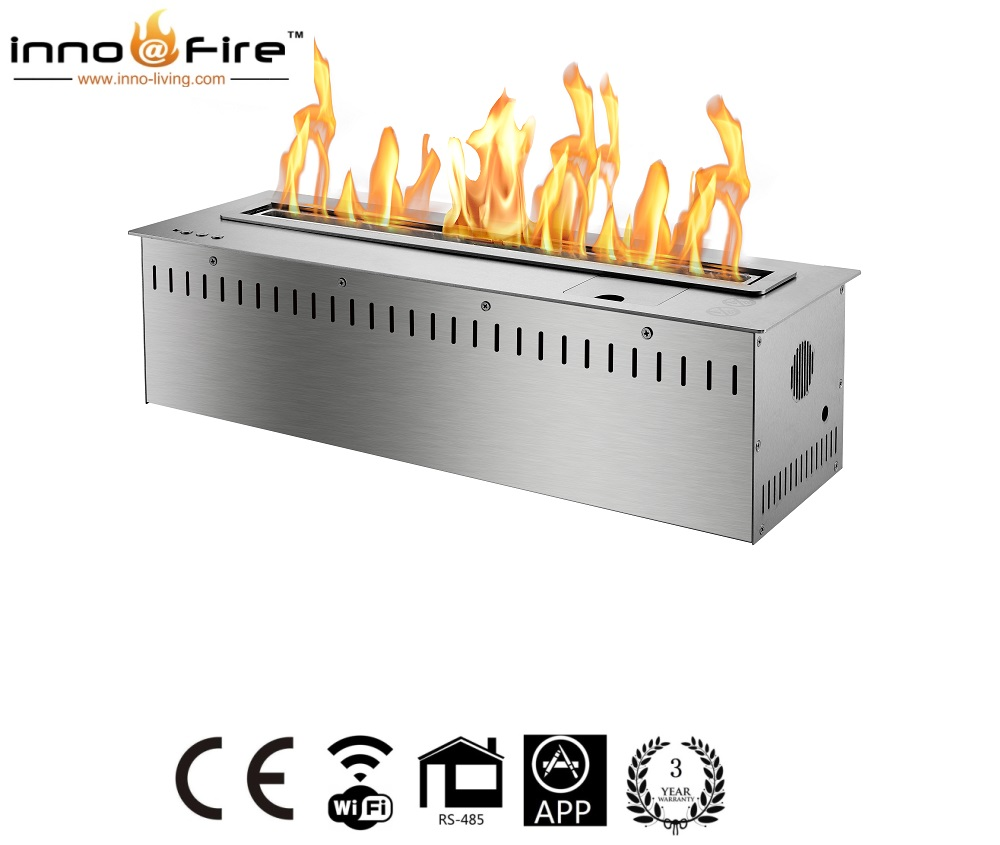 Inno Living Fire 36 Inch Smart Control Ethanol Fireplace Double Sided