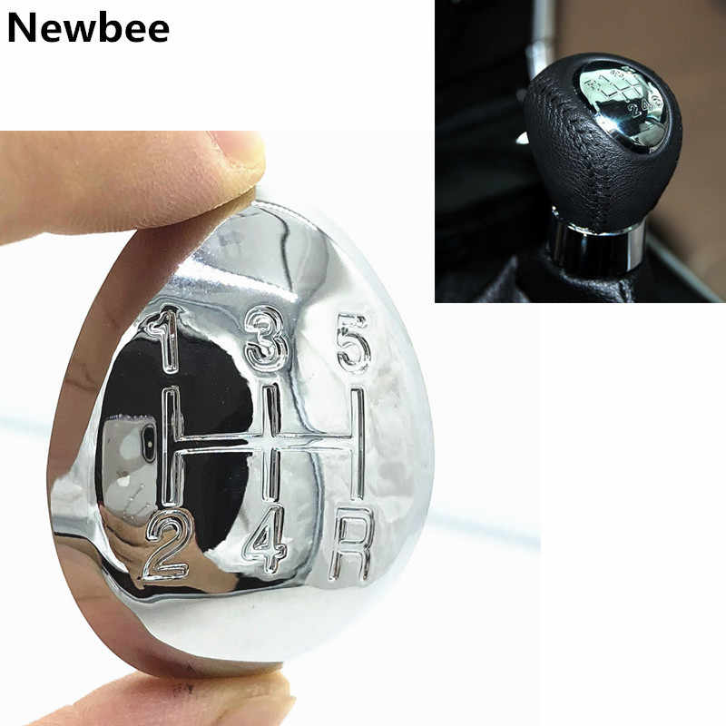 5 / 6 Speed Car Manual Gear Stick Shift Knob Cover Gear Shift Knob Cap Emblem Cover For Mazda 3 5 6 Premacy 323  626 GE Chrome