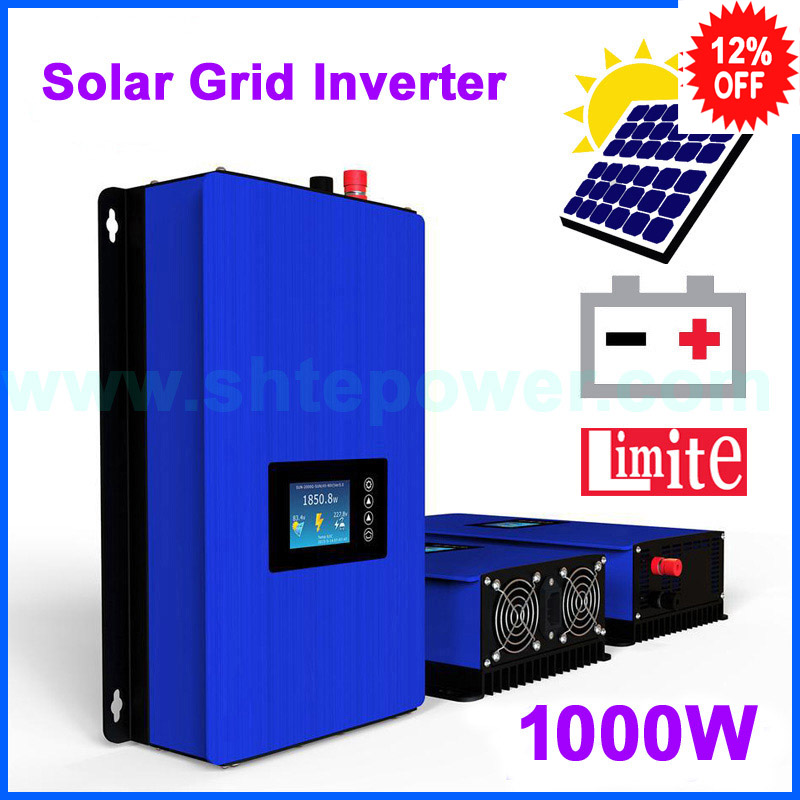 1000W MPPT Solar Power Grid Tie Inverter with Limiter DC 22-65V/45-90V AC 100V 110V 120V 220V 230V 240V PV system connected solar power on grid tie mini 300w inverter with mppt funciton dc 10 8 30v input to ac output no extra shipping fee