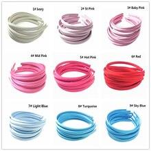 10 шт./лот 10 мм 30 цвета одноцветное Цветная атласная ткань покрыты смолы лента для волос взрослых обувь для девочек повязка Дети DIY аксессуары волос