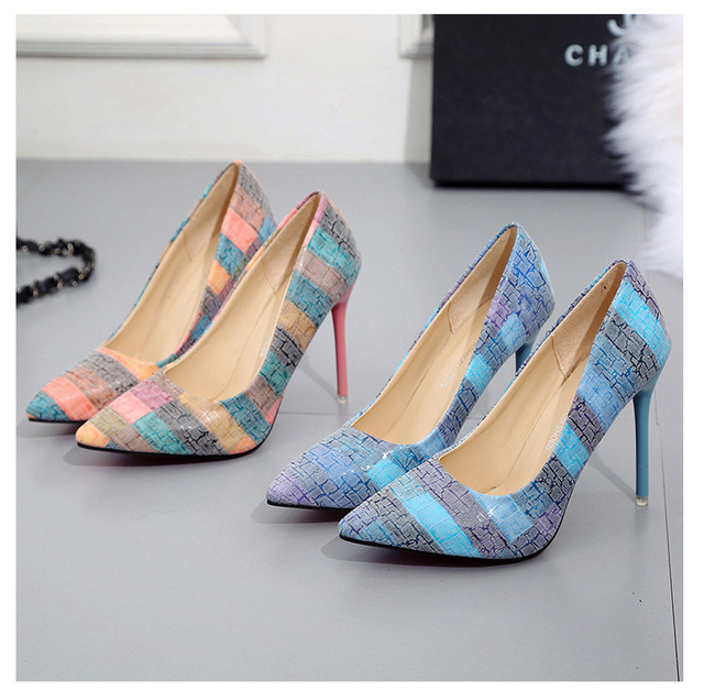 Multi-Color Classic Pointed Toe Pumps