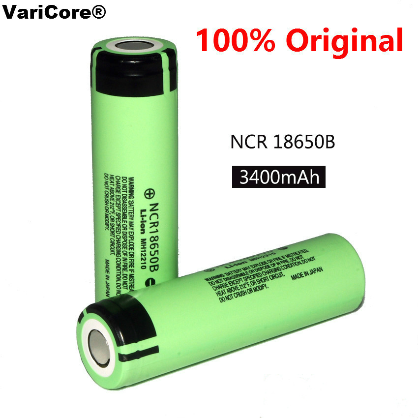 100% New Original NCR18650B 3.7 v 3400 mah 18650 Lithium Rechargeable Battery For Panasonic Flashlight batteries varicore new original 18650 ncr18650b rechargeable li ion battery 3 7v 3400mah for panasonic flashlight use free shipping