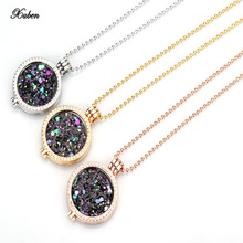 Xuben my 35mm coin holder necklace fit 33mm coins fashion women jewelry colorful silver chain necklaces & pendants