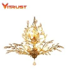Retro Crystal Chandelier lamp crystal pendant pendant chandelier light art deco Loft lighting fixture lusters en hanglampen