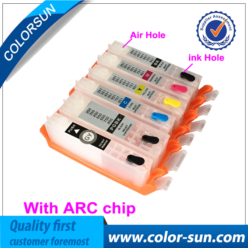 6 Colors for Canon PGI-470 CLI-471 PGI470 Refillable Ink Cartridges for Canon PIXMA MG5740 MG6840 MG7740 Printer With ARC Chips pgi 425 cli 425 refillable ink cartridges for canon pgi425 pixma ip4840 mg5140 ip4940 ix6540 mg5240 mg5340 mx714 mx884 mx894