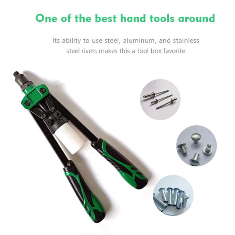 13 Inch Heavy Duty Portable Mini Hand Riveter Blind Rivet Gun Tool Shock-Proof Hand Tools With Soft Rubber Non-Slip Handle 1pc