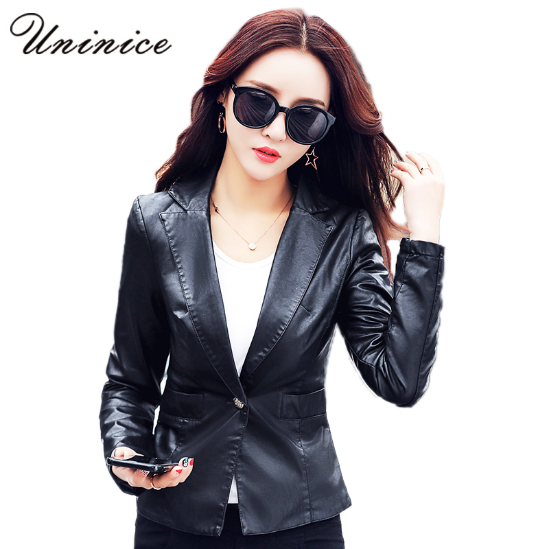 Compare Prices on No Collar Women Black Leather Jacket- Online ...