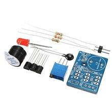 Best Promotion Temperature Control Sound Light Alarm Kit DC3-5V Electronic Circuit DIY Training Suite