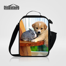 Dispalang Women Kids Men Cooler Lunch Box Bag Puppy Dog Printed Thermal Food Picnic Lunch bags Pug Animal Children Insulated bag