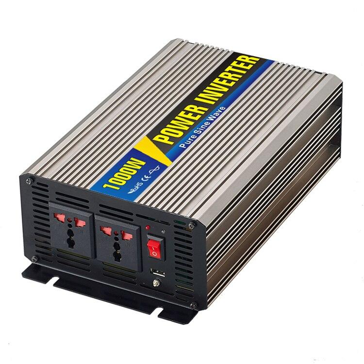 Maylar @ Real Мощность 1000 Вт автомобиля Мощность преобразователь DC 48 В к AC 110 В или 220 В чистая синусоида пик 2000 Вт Мощность солнечные инверторы
