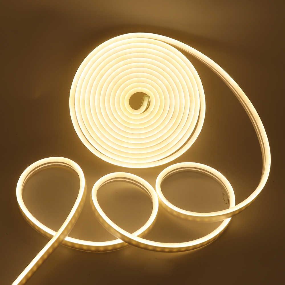DC 12V Neon Dải Dây Đèn LED Sáng Chống Nước SMD 2835 120 Đèn LED/M Linh Hoạt LED Đèn Neon Cho trang Trí Nhà Cửa Miễn Phí Vận Chuyển
