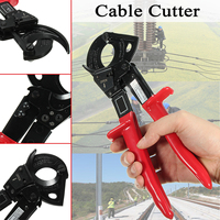 Multifunctional Ratcheting Ratchet Cable Cutter Plier AWG 600M CM for Copper Aluminum Cable Wire Cutter Pliers Hand Tools