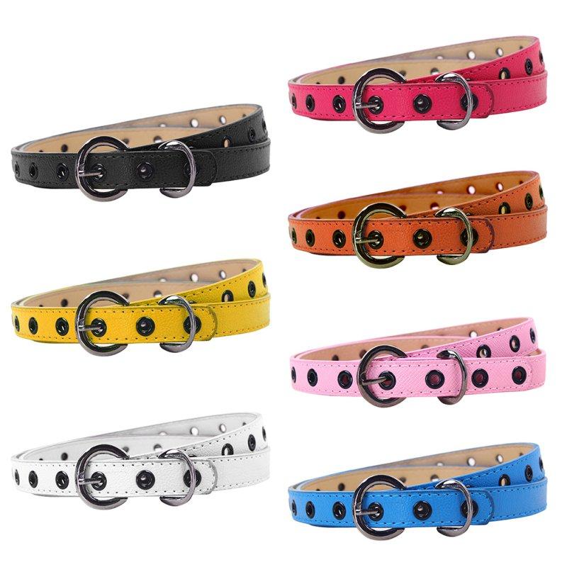 Hollow Eyelets Kids Girls Strap Leisure PU Belt Boys Waistband Belts Color Children Waist Classic Child Leather