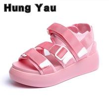 Женская летняя обувь босоножки на платформе женские повседневные туфли из мягкой кожи с открытым носком гладиаторы на танкетке женская обувь для медсестры свободного покроя Размеры 8