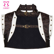Hot Jacket Coat Women Plus Size Burlesque Costumes Corsets And Bustiers Sexy Gothic Outfit Vintage Steampunk Corset Accessories